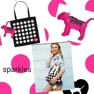 🐾 NEW VS PINK FOLDABLE TOTE BAG & DOG